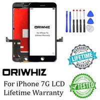 ingrosso strumenti di montaggio iphone-Il più grande sconto per iPhone 7 7G Screen Display LCD Touch Digitizer Completa sostituzione di ricambio con Gift Tool Kit 1 PZ Epacket gratuito