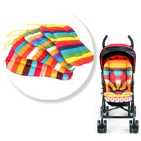 Wholesale Stroller Liners - Wholesale Liner Car Seat Pad Kids Pushchair Accessories Two-sided Padding Pram Rainbow Color Baby Stroller Cushion VT0168 kevinstyle