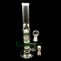 Wholesale bong arm honey online - 3 layer filters Arm percolator glass bongs and honey comb double filter with triangle eddy glass water pipes for herb oil rig