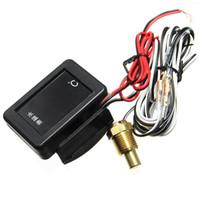 зондовые датчики оптовых-Автомобильный датчик температуры воды DC 12V/24V цифровой светодиодный 17 мм универсальный датчик и кабель + зонд