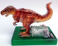 Wholesale Dinosaur Electric - 3D Origami DIY Electric Dinosaur Kingdom Triceratops,Electric Circuit Paper Science Kit for Kid,Paper Science Model kit baby Toy