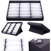 Wholesale Eyewear Tray - 18 PCS Eyewear Sunglasses Jewelry Watches Display Storage Case Tray HITM #56337