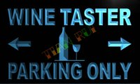 Wholesale Commercial Parking Lights - LN460-TM Wine Taster Parking Only Neon Light Sign. Advertising. led panel, Free Shipping, Wholesale.jpg