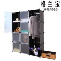 Wholesale Diy Plastic Simple Wardrobe - Diy free cabinet simple wardrobe storage rack plastic finishing rack shelf