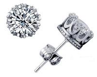 pernos pequeños 925 al por mayor-Venta caliente 925 pendientes de plata natural de cristal al por mayor de moda pequeña joyería de plata para las mujeres stud hombres o mujeres pendientes