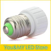 Wholesale e14 e27 adapter resale online - Edison2011 Lamp Holders Bases for Led Bulb Light Converted E27 B22 E14 To GU10 Adapter Converter Holder Lighting Accessories New Arrival