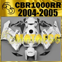 Weißes Repsol Body Kit Kaufen -Fünf Geschenke Motoegg Verkleidungen Bestseller Injection Mould Kits Für Honda CBR1000RR 2004 2005 CBR 1000RR 04 05 Body Kit Repsol White H14M31