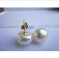 Wholesale Earrings Pearl 14 - Mouse over image to zoom huge AAA+ 14-15mm white South SEA STUD pearl earrings 14K