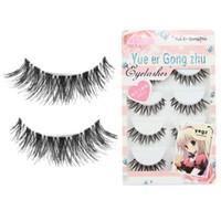 Wholesale girl japan hot style - Wholesale-Stylish Japan style girls 5 Pair Lot Crisscross Charming False Eyelashes Lashes Voluminous HOT eye lashes for women