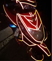 Wholesale Garland Body Stickers - Car Reflective Strip Motorcycle Car Be Light Garland Luminous Stickers Body Decoration Full Reflectors45.7M*1.5CM
