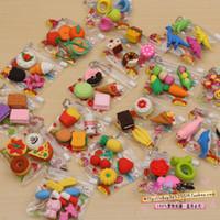 Wholesale Toy Erasers Free Shipping - Free shipping nice promotional eraser animal fantastic cartoon pencil eraser rubber cute toy erasers for kids magic eraser