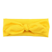 Wholesale accessories baby girl online - Hot Sale Cute Rabbit Bow Ear Hairband Baby Kids elastic Turban Knot Head Wraps For girls cute Hair Accessory FD0016