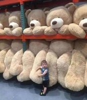 """Wholesale Zipper Teddy - 260CM SUPER HUGE TEDDY BEAR (ONLY COVER) PLUSH TOY SHELL (WITH ZIPPER) 102"""""""