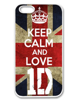 Wholesale Iphone 1d - Wholesale Keep Calm Love 1D and Love Style Hard Plastic Mobile Phone Case Cover For iPhone 4 4S 5 5S 5C 6