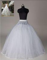 Wholesale Crinoline Net White - White 3-Layer  5 layer 8 layer net Tulle Hoop less Wedding Crinoline Petticoat