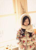Wholesale Korean Style Jackets For Girls - Children Cotton Coat For 2015 Winter Girls Flower Printed Outwear Korean Style Jackets For Kids Fit 2-8 Age 5Pcs Lot 100-140 SS296