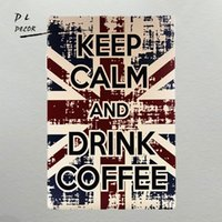 DL-Keep Calm and Drink Coffee Targhe in metallo vintage Retro Shabby chic Targa in metallo con placca decorata