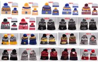Wholesale Twill Silk Wholesale - New Beanies 2017 Sideline Knit Baseball Football Baseketball Beanie Sport Team Knit Hat Pom Knit Hats Sports Beanies Fashion winter Hat