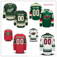 f8dc98fb3 Stitched Custom Minnesota Wild mens womens youth home Customized Red White  Green Stadium Series Personalized ice Hockey cheap Jerseys S-4XL