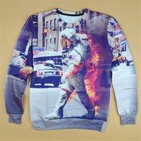 Wholesale Mens Beige Hoodie - w1223 Alisister harajuku style sweatshirt men women 3d hoodies print character astronaut pullover hoodie mens punk sweatshirt clothing