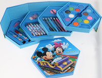 Wholesale Office Suit Wholesale - Frozen Stationery gift sets of watercolors 46 color combination suit students graffiti stationary papeleria store pencil