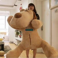 Wholesale Stuffed Dog Animal Toys - Dorimytrader 59''   150cm Giant Stuffed Soft Plush Huge Lying Animal Dog Toy, Nice Gift for Lovers and Friends, Free Shipping DY60444