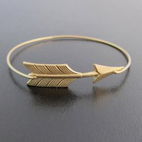 stack bangles - Arrow Stack Gold and Sliver Bangle Bracelet Europe and the United States Hot Sale jewelry YPQ0072