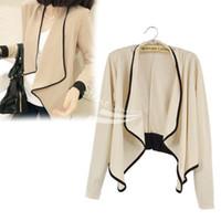 Wholesale Padded Shoulders Ladies Jackets - Women's Ladies Long Sleeve shoulder pad All-Match Loose Short Jacket Coat