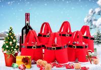 Wholesale christmas elf ornaments - Fashion Sale Free shipping Christmas Santa Pants Elf Spirit Candy Bags Xmas Decoration Sack Cute Child Gift Christmas Gifts