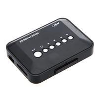 Wholesale Usb Sd Media Reader - 720P HD Media Center Multi Media Video Player with AV YPbPr USB SD MMC Port Remote Control V481