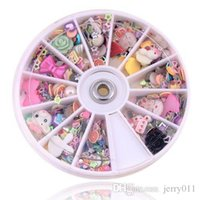 Wholesale Nail Art Mixed Glitter - New Arrival 1200pcs Nail Art Wheel Mixed Nail Art Tips Glitters Rhinestones nail tools nail art decorations 96404
