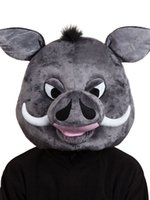 ordon Warthog Head Mask Mascot Traje de disfraces Pumbaa Lion King Face Emoji