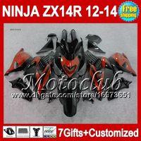 kawasaki orange black Canada - 7gifts For KAWASAKI NINJA ZX14R 12-13 Orange black not red no ZX-14R 25C26 ZX 14R 12 13 12 13 ZX14 R 2012 2013 2012 2013 ZX 14 R Fairing