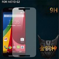 Wholesale G E Phones - Ultra Thin 0.3MM 2.5D 9H Original Tempered Glass Clear Screen Protector Anti-shatter Phone Film For Moto E X G G2 Google Nexus 6 Nexus6