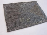 Wholesale Beaded Mats - luxury rectangle gray handmade beaded table runner glass beads charger beaded table mat beaded placemat set glass beads decorative dining