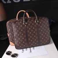 дизайнерские портфели женщин оптовых-Камера сумочка Марка дизайнер мужская сумочка роскошные женщины бизнес сумки плеча портфель сумка большой емкости 14-дюймовый компьютер сумки