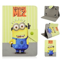 Wholesale Despicable For Ipad - minion case for ipad mini Despicable Me 2 Flip PU Leather Case Minions Cover For Apple iPad mini ipad air ipad 2\3\4 Minion case for tab