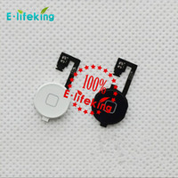 Wholesale Iphone Cable Key - For iphone 4 & iPhone 4S Home Button Flex Cable Return Key Ribbon Cable Parts Replacement with free shipping