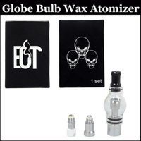 Wholesale Coil For Dome Atomizer - Globe Bulb Atomizer Wax Vaporizer 3 in 1 Glass Dome Globe Wax Vaporizer kits for eGo series battery Glass atomizer with 3 coils