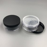 Wholesale Cosmetic Containers Sifters - Clear 50g 50ml Plastic Powder Puff Container Case Makeup Cosmetic Jars Face Powder Blusher Storage Box With Sifter Lids