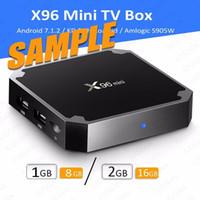 Wholesale Boxes Samples - [DHL Shipping Free] 1Piece X96 mini [SAMPLE] 1GB 2GB 8GB 16GB android 7.1.2 tvbox amlogic S905W quad core KD 17.4 4K tv box