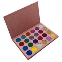 nova sombra de olho 24 cores venda por atacado-New itme Nova Marca Maquiagem CLEOF Cosméticos 24 cores Set Glitter Eyeshadow Palette Beleza Shimmer Sombra