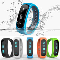 Wholesale Sport Watch Fitness - fit bit bracelet Smartband E02 Health fitness tracker Sport Waterproof Wristband for IOS Android fitbit flex Smart Band 4.0 Bluetooth Watch