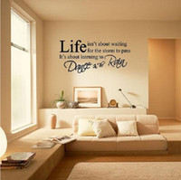 Wholesale Live Moment Laugh - LIFE Quote Letter Words Live every moment,Laugh every day, Love beyond words LIVE LOVE LAUGH WALL ART STICKER