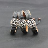 Wholesale Tribal Bone Bracelet - Jewelry Wholesale 12pcs Yak Bone Hand Carved Tribal Frog Bracelets Cool Hemp Surfer Leather Bracelet Bangle MB59