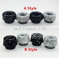 Wholesale Drip Tips Black - 2018 NEW 810 Marble Black and White Mushrooms Drip Tip For TFV8 TFV8 BIG BABY TFV8 X BABY TFV12 Atomizer VS Baby With Package