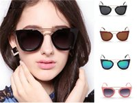 2015 New Vintage Black Fashion Big Square Classic Cadre Cat Eye Glasses Cool Summer Designer Sunglasses Women Marque Livraison gratuite