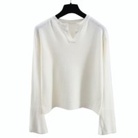 Wholesale Thick Knitwear Women - 2018 European and American autumn and winter women's v-neck long-sleeved high quality woollen knitwear bottoming shirt