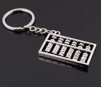 Wholesale Promotion Calculator - Keychain Chinese Abacus Calculator Gifts Kids key chain ábaco abaküs abaco Zinc Alloy keychains Key Holder Ring
