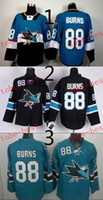 Wholesale Sharks Hockey - Sharks #88 brent burns Cheap Hockey Jerseys ICE Winter mens women kids Stitched Jersey Free shipping